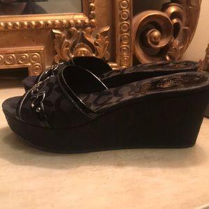 Coach Shoes - COACH wedge sandals 👡